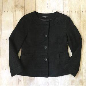 Theory Tessen Button Front Tweed Blazer Size 6